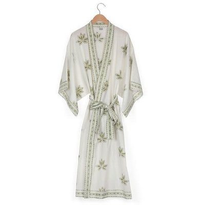 Ten Thousand Villages Kimono Lotus Robe