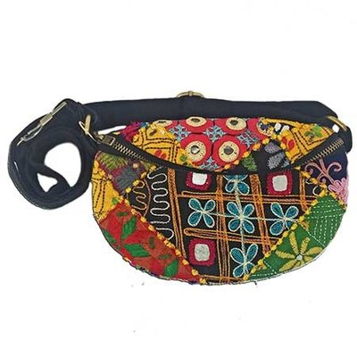 World Finds Kutch Fabric Belt Bag