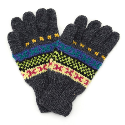 Minga Imports Ladies Fleur Alpaca Blend Gloves