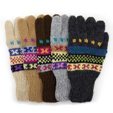 Minga Imports Ladies Fleur Alpaca Blend Gloves