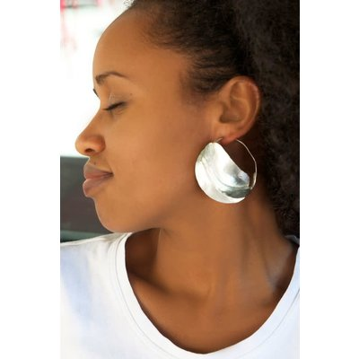 Swahili Imports Large Sterling Silver Fulani Earrings