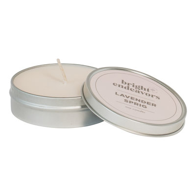 Bright Endeavors Lavender Sprig Candle 4 Ounce Tin
