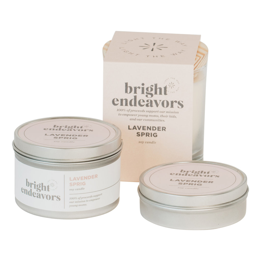 Bright Endeavors Lavender Sprig Candle 8 Ounce Tin