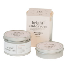 Bright Endeavors Lavender Sprig Candle 8oz Tin
