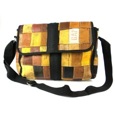 Global Crafts Leather Jean Label and Recycled Tire Butler Bag