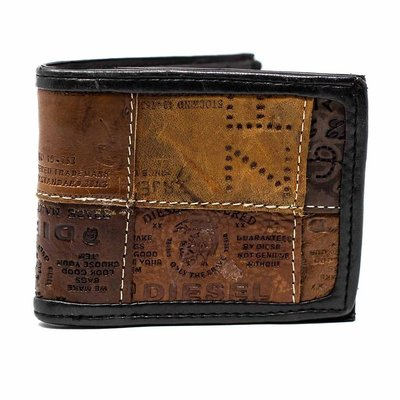 Global Crafts Leather Jean Label Bifold Wallet