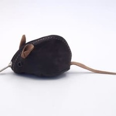 Minga Imports Leather Mouse Coin Purse