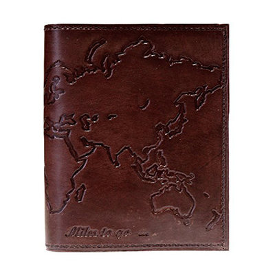 Matr Boomie Leather World Map Journal