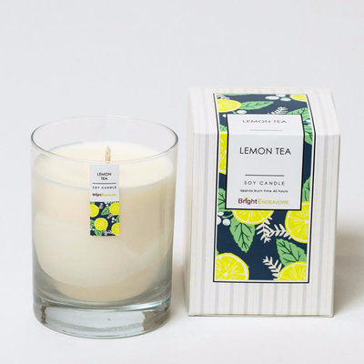 Bright Endeavors Lemon Tea Candle 11 oz Glass