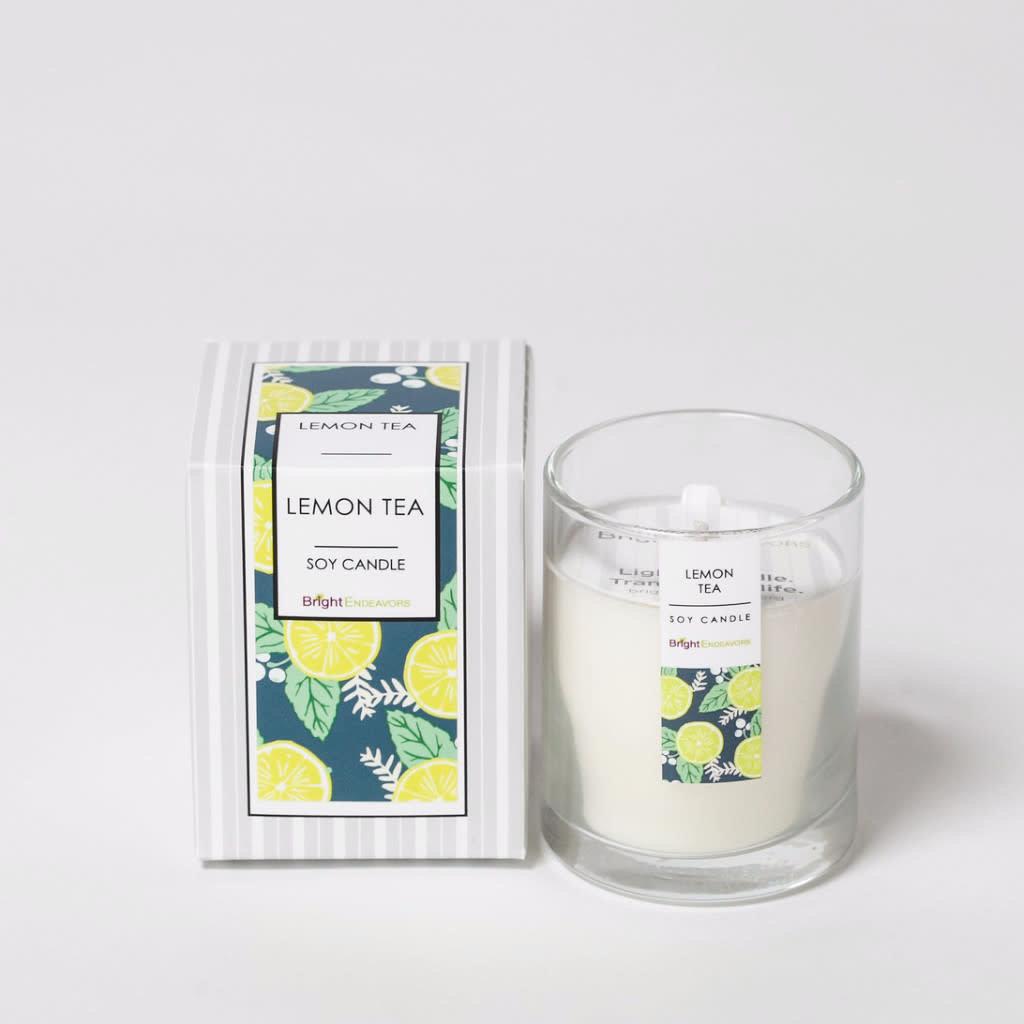 Bright Endeavors Lemon Tea Candle 3 oz Glass