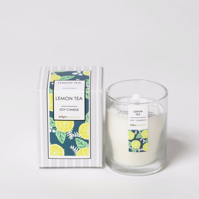 Bright Endeavors Lemon Tea Candle 3 oz Glass