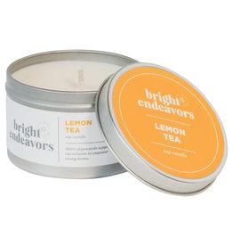 Bright Endeavors Lemon Tea Candle 8 Ounce Tin