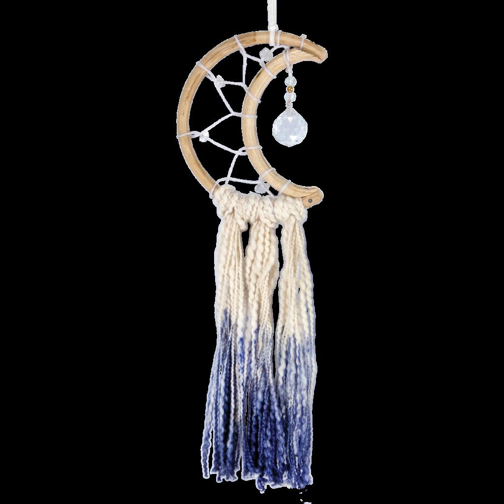 DZI Handmade Little Blue Moon Dream Catcher