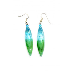 Dunitz & Co Long Almond Glass Earrings