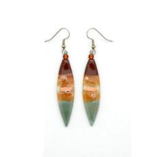 Dunitz & Co Long Almond Assorted Glass Earrings