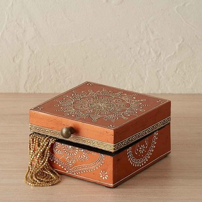 Serrv Mango Mahamantra Keepsake Box