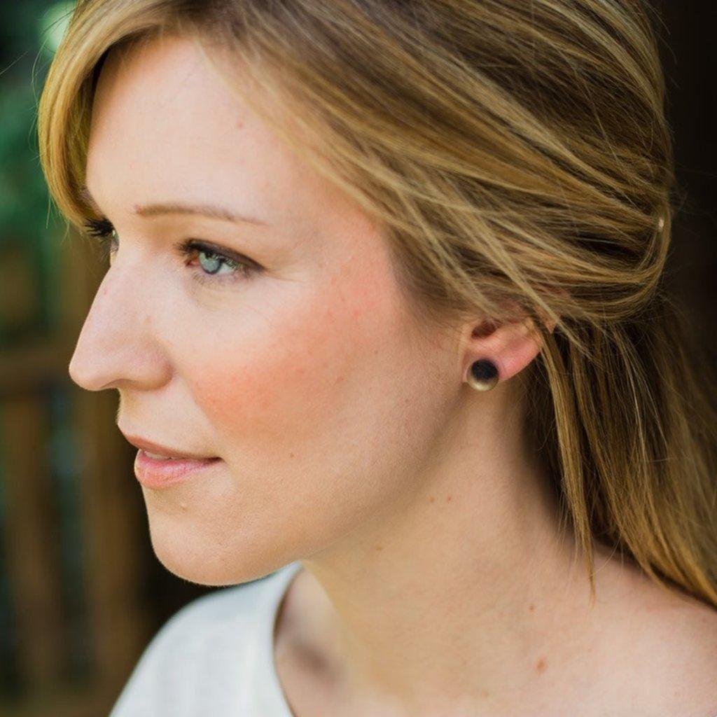 Fair Trade Winds Marble Horn Post Earrings