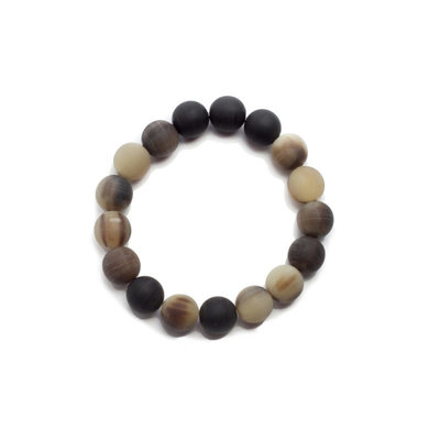 Fair Trade Winds Marble Horn Bracelet