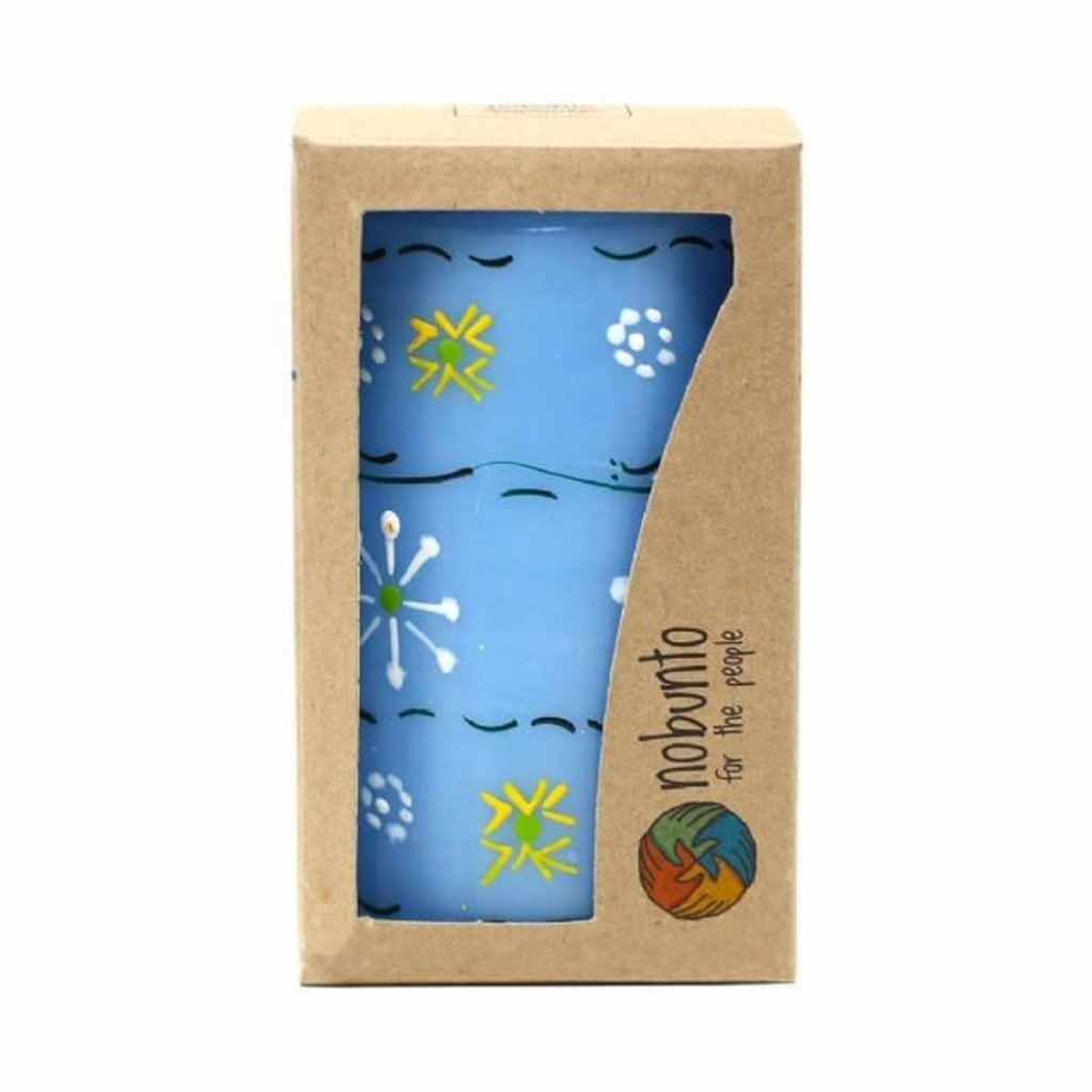 Global Crafts Masika Blue Pillar Candle
