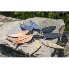 Lucia's Imports Medium Leather Leaf Earrings