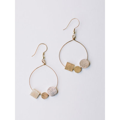 Mata Traders Melodic Stone Gold Earrings