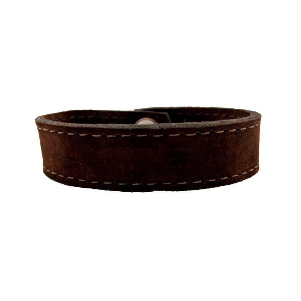 Unique Batik Men's Suede Leather Snap Bracelet