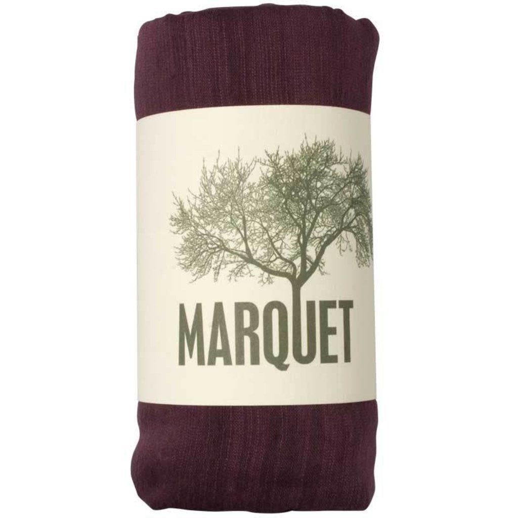 Marquet Fair Trade Merlot Binh Minh Silk and Cotton Shawl
