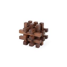 Ten Thousand Villages Mini Shesham Wood Cube Puzzle