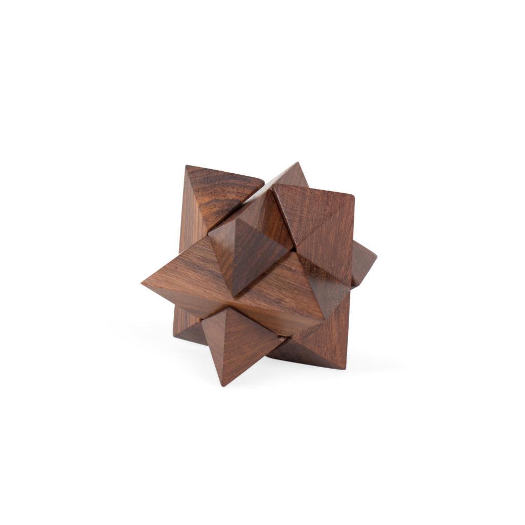 Ten Thousand Villages Mini Shesham Wood Star Puzzle