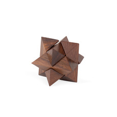 Ten Thousand Villages Mini Shesham Wood Star Puzzle