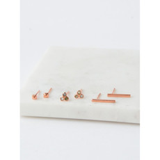 Fair Anita Mini Stud Set: Copper