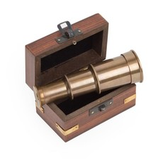 Ten Thousand Villages Miniature Telescope and Box
