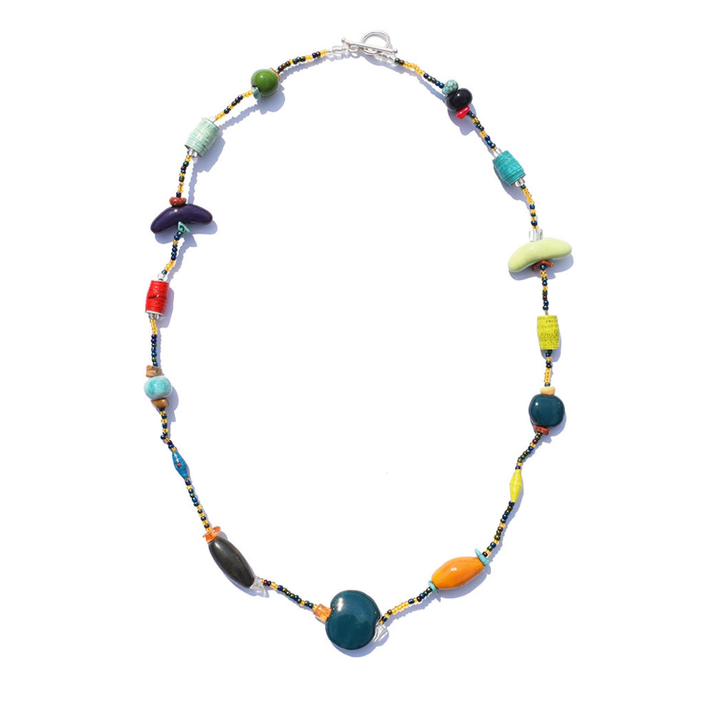 Creation Hive Mixed Bead 1-Strand Necklace