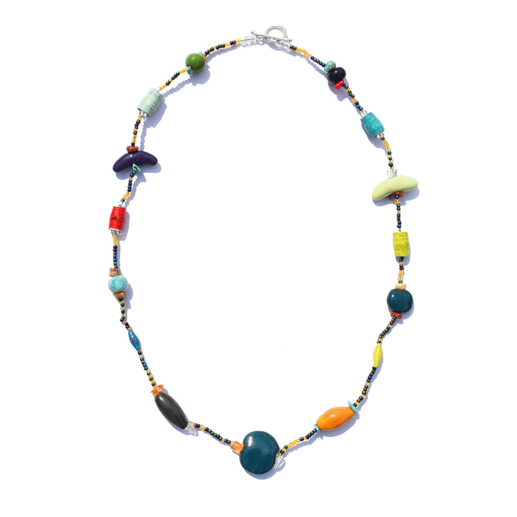 Imani Workshops Mixed Bead 1-Strand Necklace