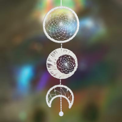 DZI Handmade Moon Phase Dreamcatcher