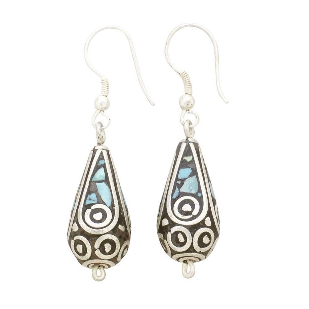 Ten Thousand Villages Mosaic Teardrop Earrings