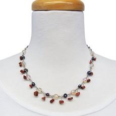 Unique Batik Multi-bead Dancing Necklace