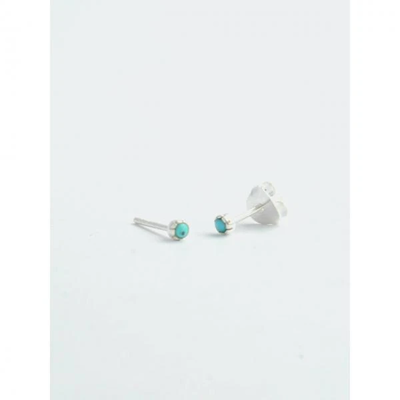 Fair Anita Nano Turquoise Stud Earrings Sterling