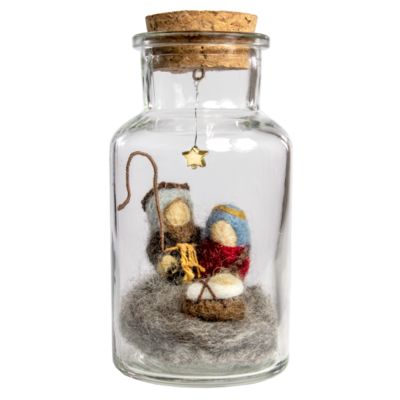 DZI Handmade Nativity Story Jar