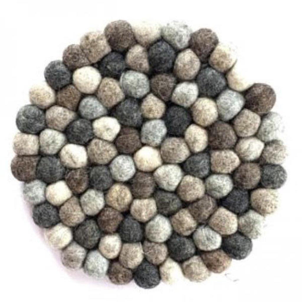 Ganesh Himal Natural Felted Wool Ball Trivet