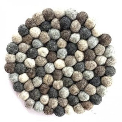 Ganesh Himal Natural Felted Wool Ball Trivet