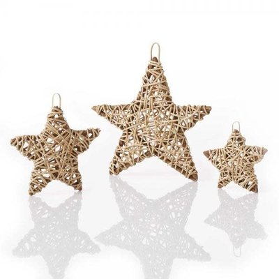 Serrv Natural Vine Wrapped Star Ornament - Medium