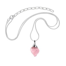 Minga Imports Rose Quartz Mineral Necklace