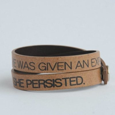 Fair Anita Nevertheless, She Persisted Leather Wrap Bracelet