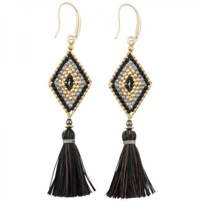 Marquet Fair Trade Nicole Caviar Akha Earrings