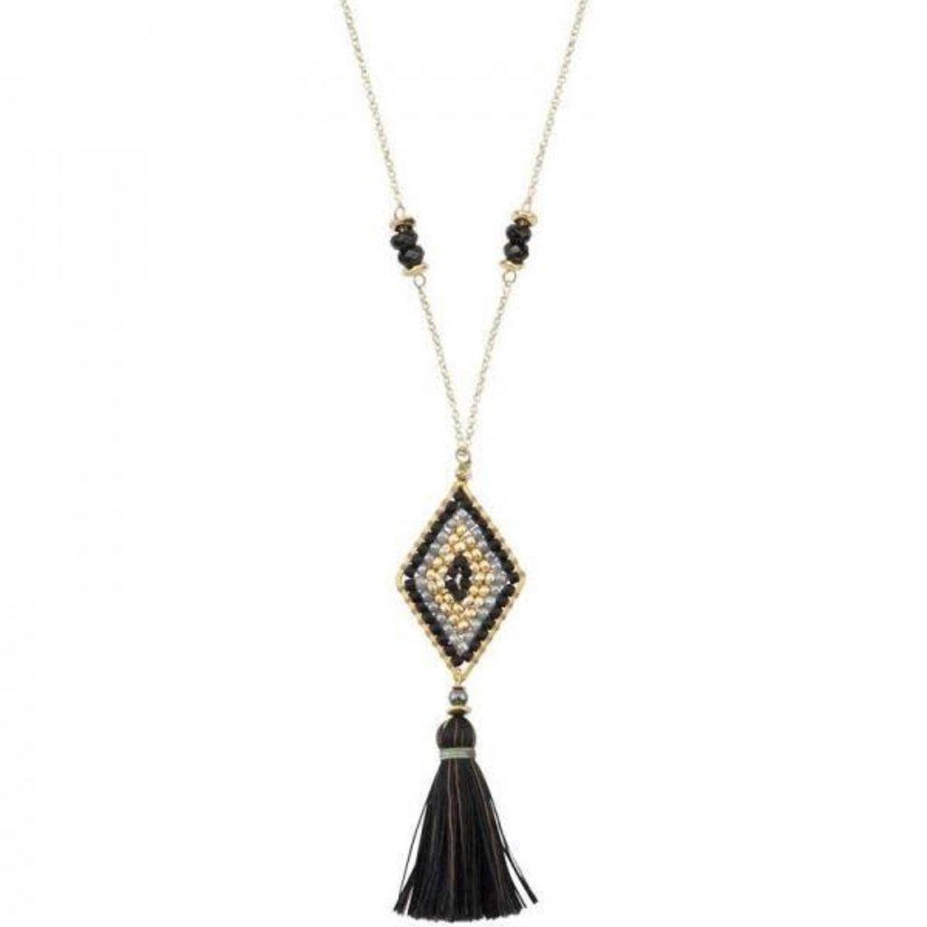 Marquet Fair Trade Nicole Caviar Akha Necklace