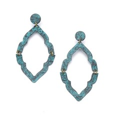 Matr Boomie Nihira Ashram Teal Window Earrings