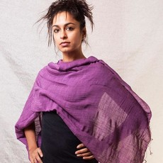 Marquet Fair Trade Ocean Binh Minh Silk and Cotton Shawl