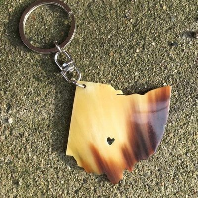 Blossom Inspirations Ohio Horn Key Chain