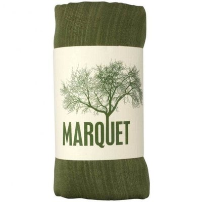 Marquet Fair Trade Olive Binh Minh Silk and Cotton Shawl